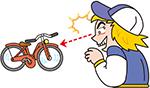 自転車泥棒などを対策しよう