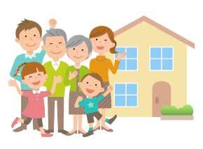 最新防犯システム導入のおかげで幸せに暮らす家族